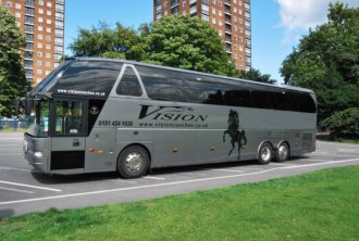 36 seat Starliner Corporate Coach for hen parties and Weddings Liverpool