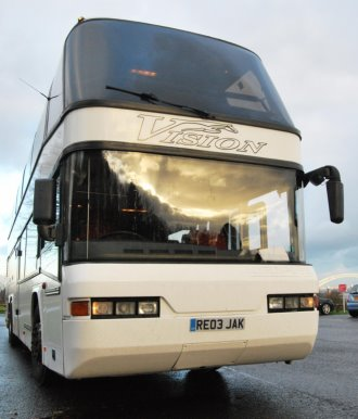 Double decker coach for private tours and educational tours such as battlefield trips