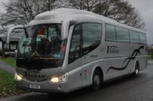 executive-fleet-coach parked in Liverpool