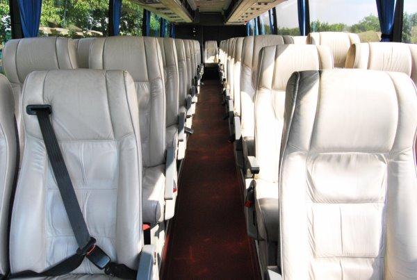 inside of v9 vsn leather white seats